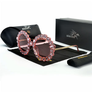 Luxury Diamond Round Sunglasses