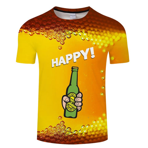 Image of 2019 new 3D T shirt men's canned beer graphic hip hop round neck short sleeved T shirt tops for men and women s 6xl