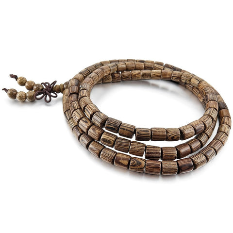 Image of Tibetan Buddhist Brown Wooden Bracelet
