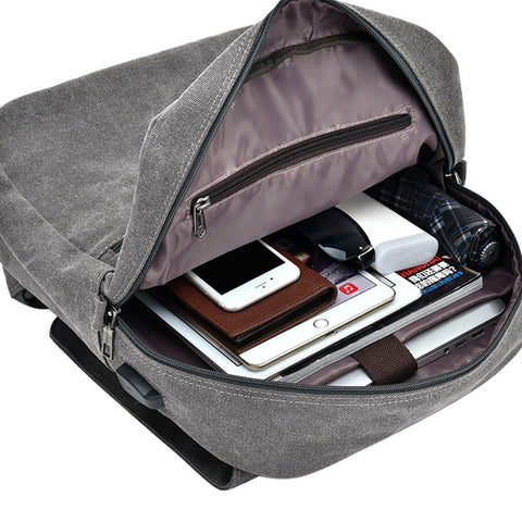 Luxury USB Charging Backpack Large Capacity Bag