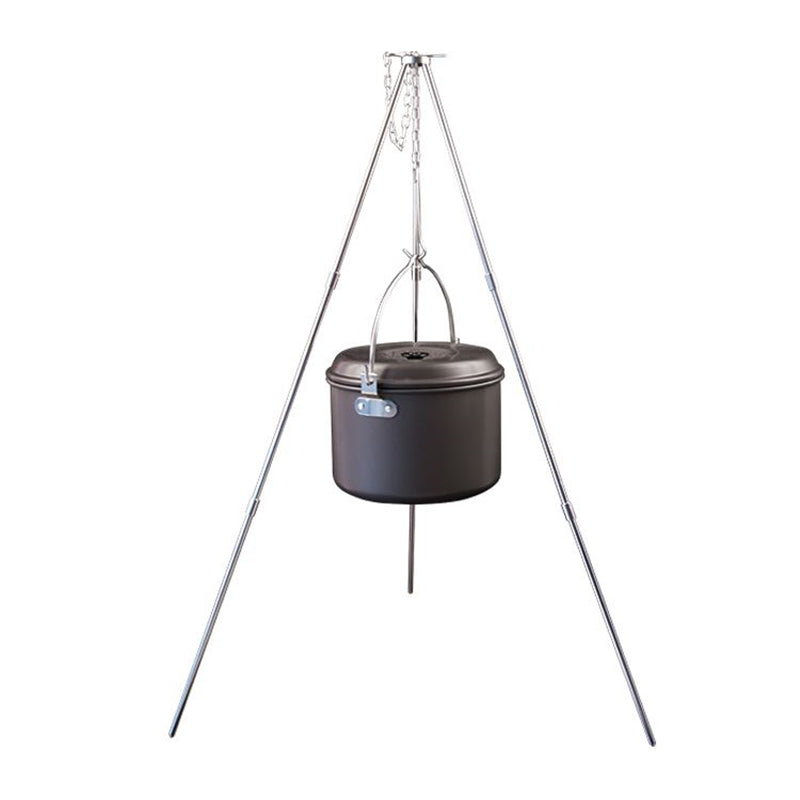 Aluminum Alloy Tripod Outdoor Portable Folding Tripod Hanging Pot Campfire Grill Stand