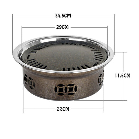 Image of Smokeless Indoor Stainless Steel Charcoal Portable Grill
