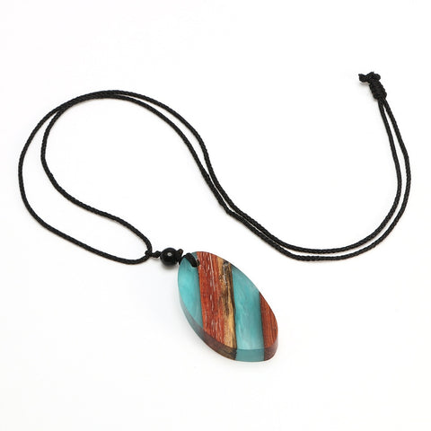 Image of Wood & Resin Handmade Necklace