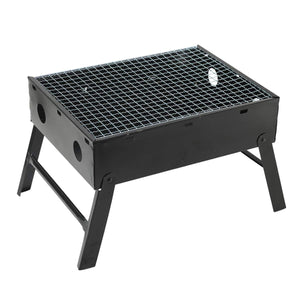 Black Folding Portable Charcoal Barbecue Grill