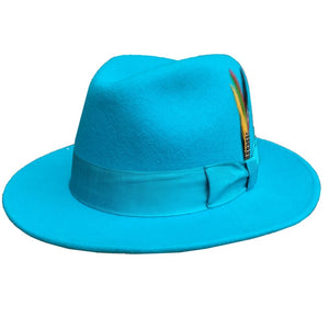 Classic Wool Felt Fur Fedora Godfather Hat