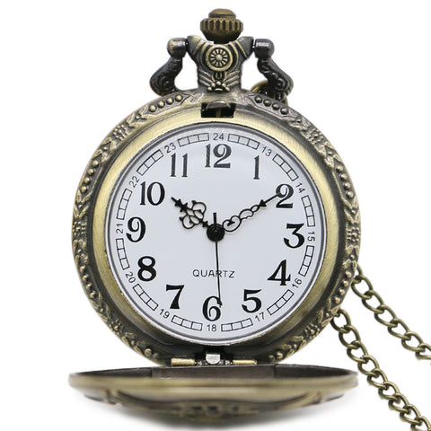 Image of Fire Fighter Bronze Quartz Pocket Watch