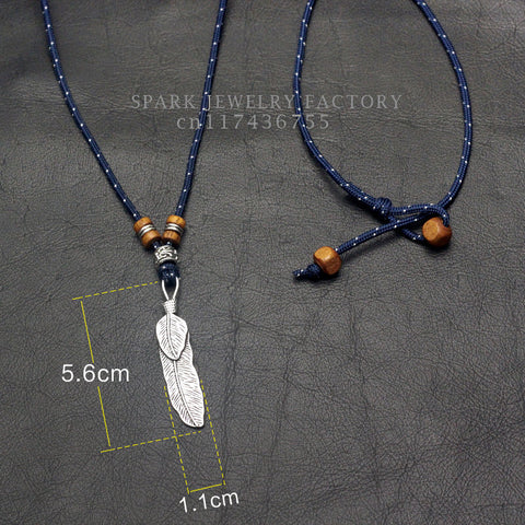 Image of Feather Pendant Necklace
