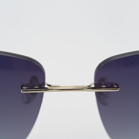 Image of Metal Luxury Brand Sunglasses