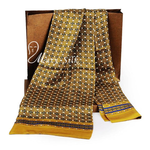 Men's 100%  Silk  Double Layer Scarf
