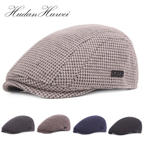 Ivy Cap Gatsby Newsboy Thickened Cotton Beret Golf Driving Flat Cabbie Cap