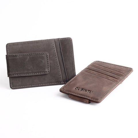 Mini Leather Slim Cash Clamp