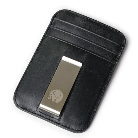 Leather Clip Wallet