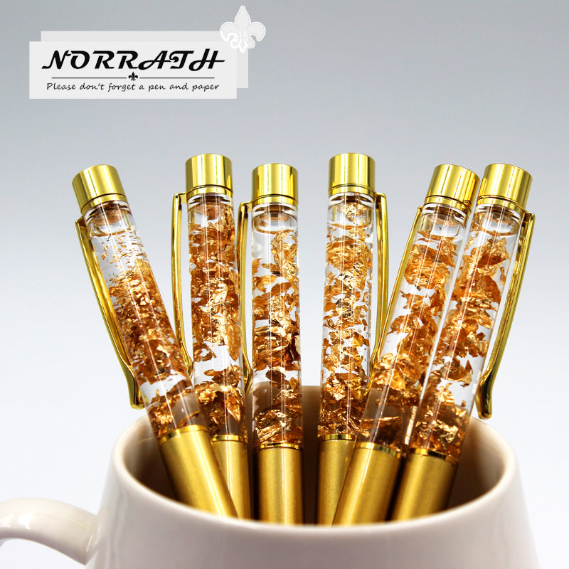 Luxury Ballpoint Flow Oil Crystal Foil Metal Pen