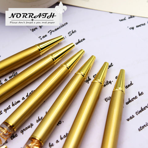 Image of Luxury Ballpoint Flow Oil Crystal Foil Metal Pen