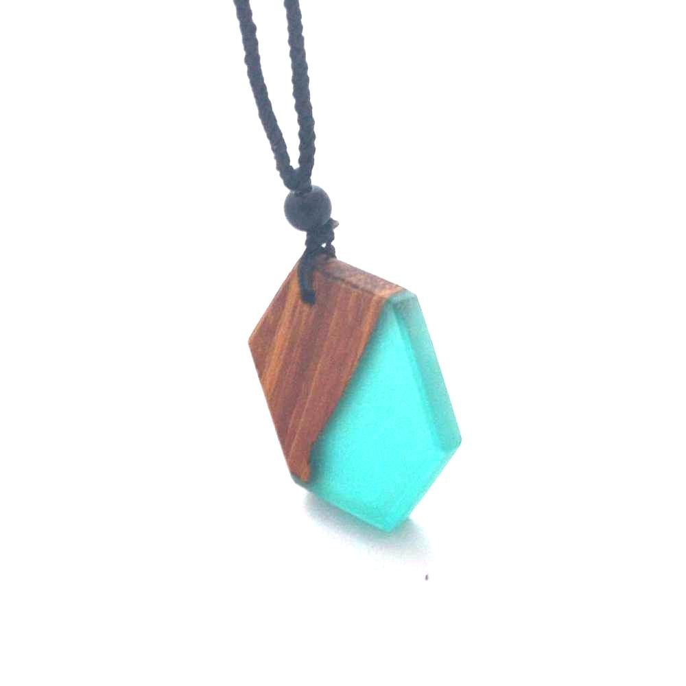 Ancient Handmade Wood Resin Necklace