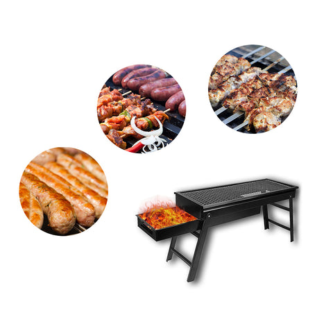 Image of Portable Drawer Charcoal Grill