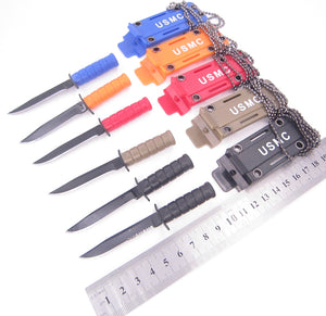 Portable Mini Military Necklace Pocketknife