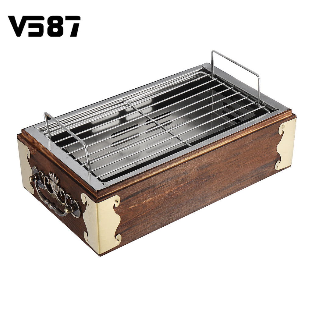 Portable Wood Smokeless Charcoal Stainless Steel Grill
