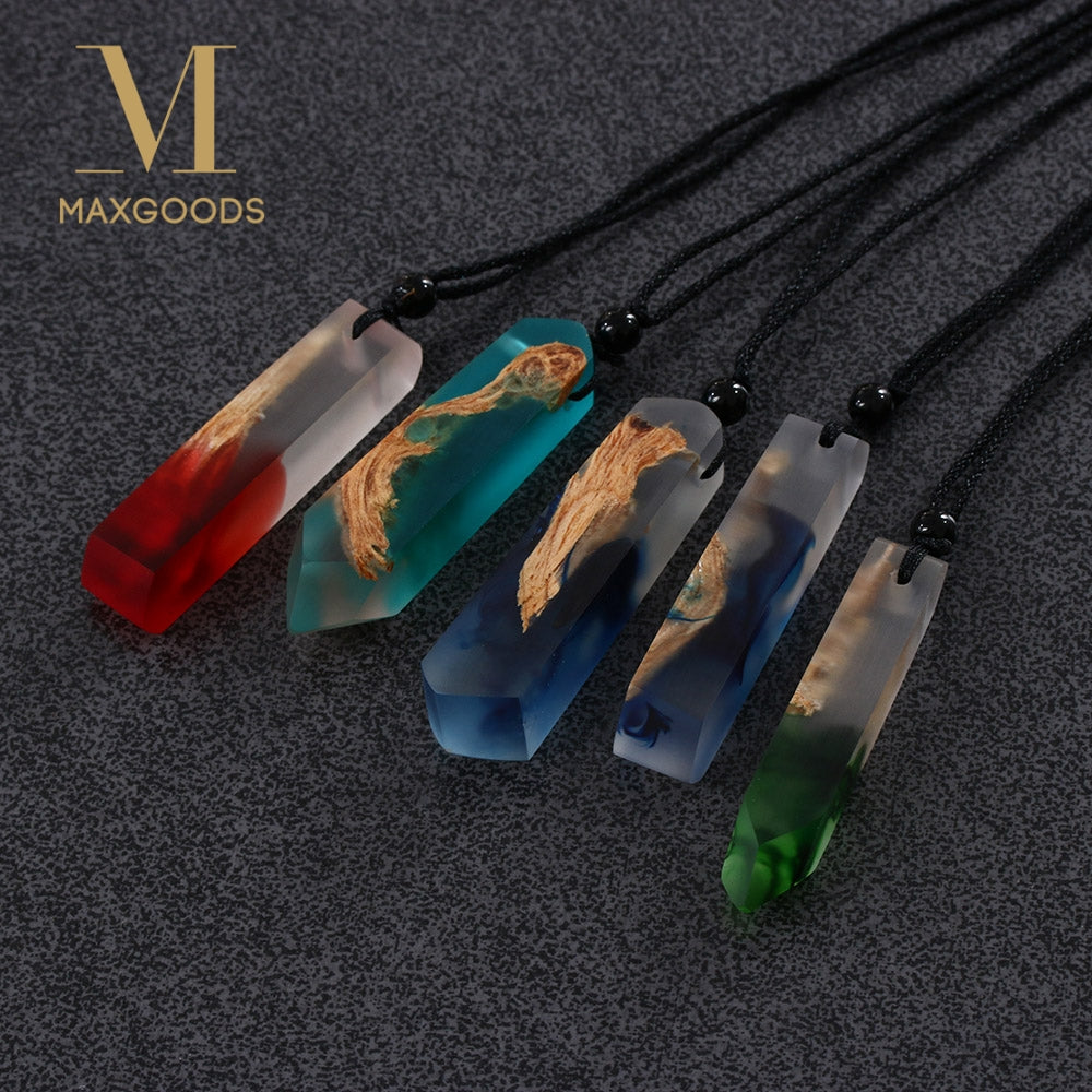 Handmade Resin and Wooden Necklace
