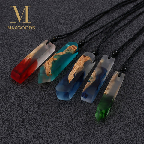 Image of Handmade Resin and Wooden Necklace