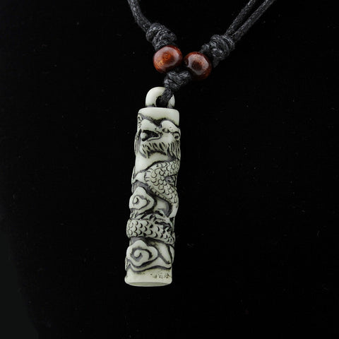 Image of Bone Carving Dragon Necklace