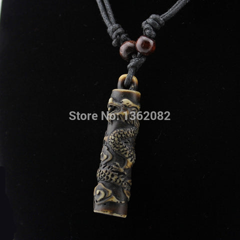 Bone Carving Dragon Necklace