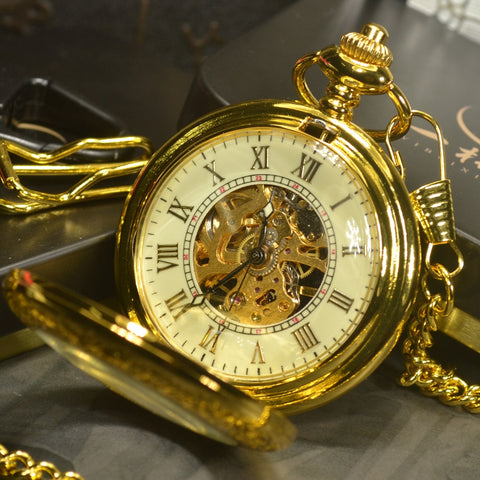 Image of Steampunk Skeleton Mechanical Pocket  Watch