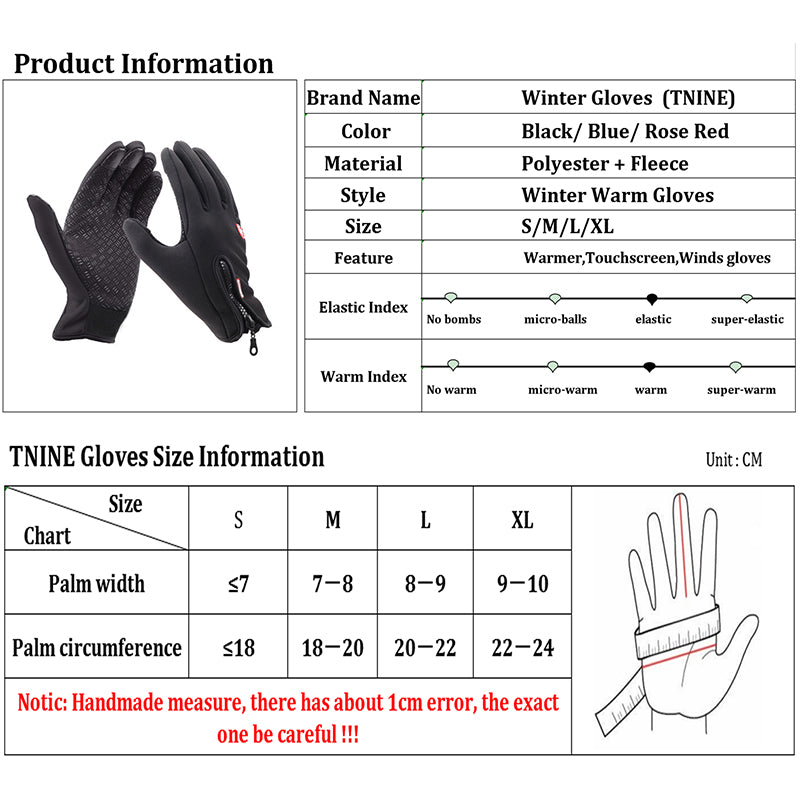 High Quality Unisex Fleece Windproof Touchscreen Gloves for SmartPhone  in 4 Colors