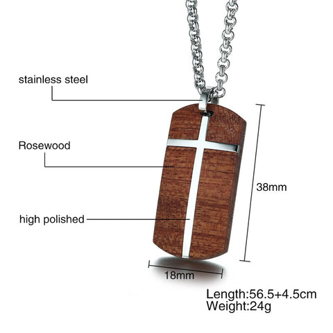 Image of Hand Crafted Rosewood Necklace