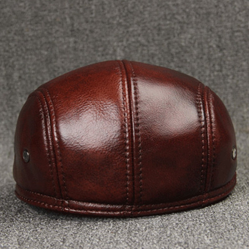 Cowhide Leather Hat