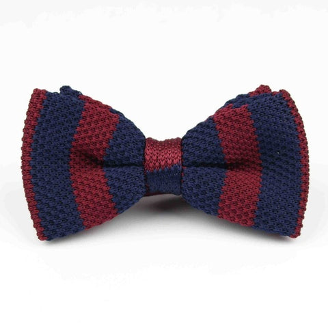 Knit Adjustable Double Deck  Bow Tie