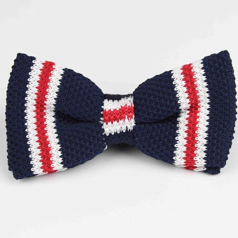 Image of Knit Adjustable Double Deck  Bow Tie