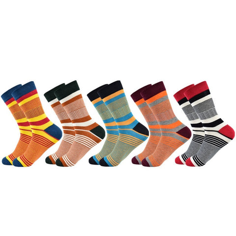 Image of Colorful Striped Designer Style Socks