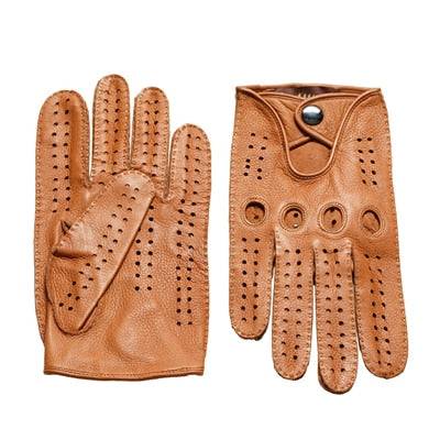 Image of Leather Sheepskin Gloves