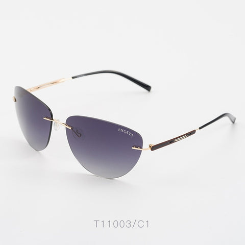 Stainless Steel Rimless Sunglasses