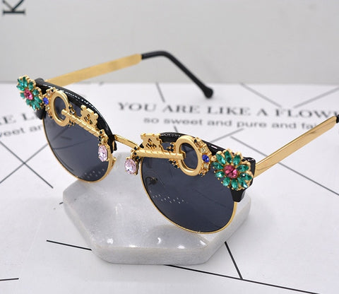 Crystal Rhinestone Baroque Sunglasses