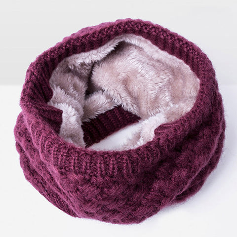 Image of Warm Wool Collar Scarf for Women Men and Children