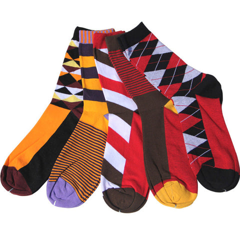 Image of Colorful Cotton Dress Socks