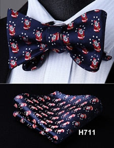 Christmas Silk Bow Tie