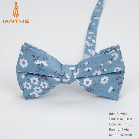 Cotton Print Floral Bow Ties