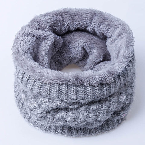 Warm Wool Collar Scarf for Women Men and Children