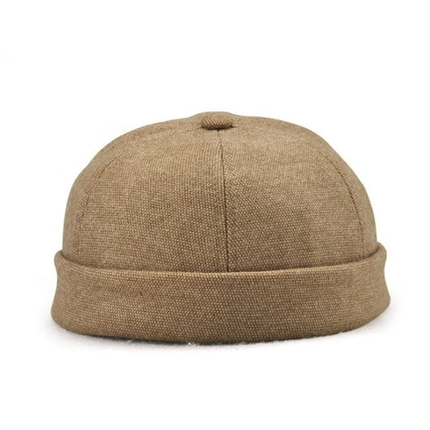 Image of Cotton Beanie Adjustable Skullcap in 5 Classic Colors