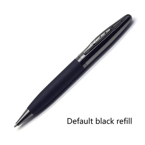 Leather Metal Case Ballpoint Pen