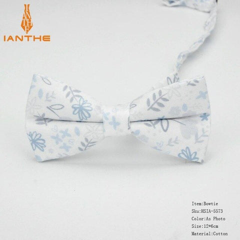 Image of Cotton Print Floral Bow Ties
