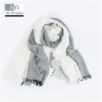 Image of Woven Cotton Scarves in Many Colors