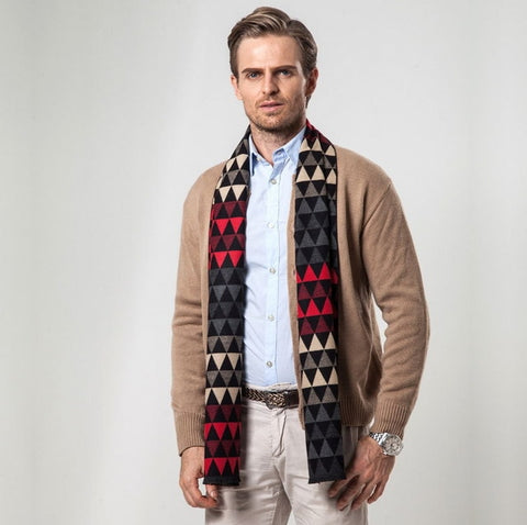 European Style Luxury Men's Wool Scarf