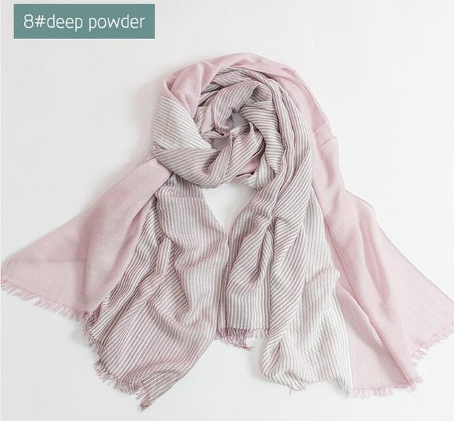 Woven Cotton Scarves in Many Colors