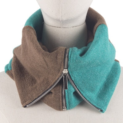 Image of Novelty Zipper Winter Collar Scarf