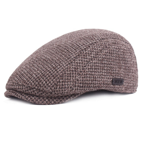Image of Ivy Cap Gatsby Newsboy Thickened Cotton Beret Golf Driving Flat Cabbie Cap