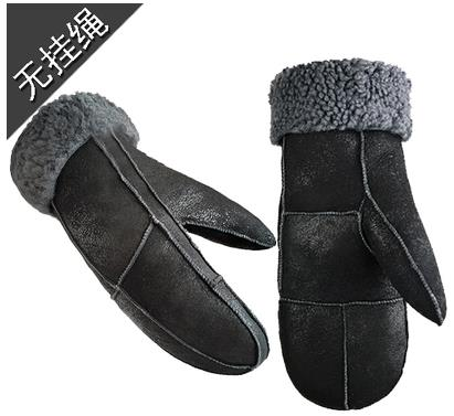 Winter Sheepskin Wool Thermal Mitten Gloves